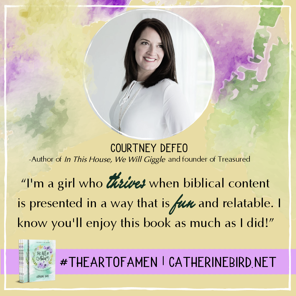 I'm a girl who thrives when biblical content is presented in a way that is fun and relatable. I know you'll enjoy this book as much as I did! - Courtney DeFeo #theartofamen
