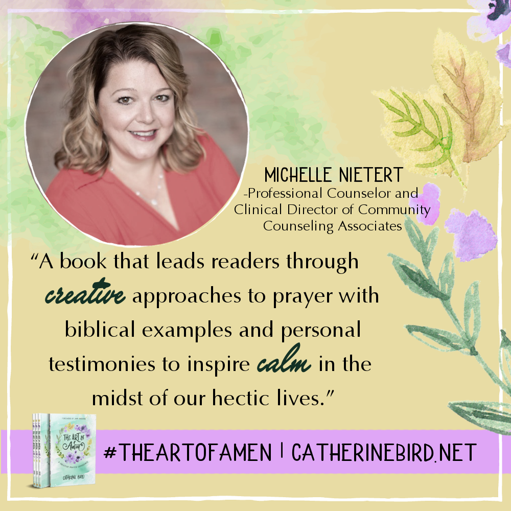 A book that leads readers through creative approaches to prayer... - Michelle Nietert #theartofamen