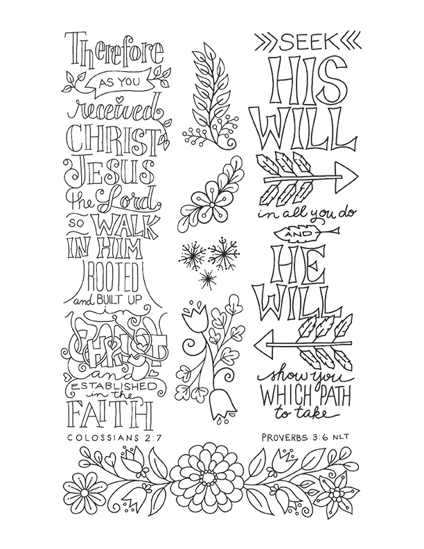 Catherine Bird: The Art of Amen Coloring Pages